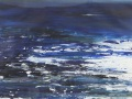 JH10- Julie Herring.  Sea Shimmers. Acrylic on paper. 79 x 100cm framed. Frame: Limed oak, glazed. £495