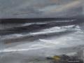 JH12- Julie Herring.  October Sea. Acrylic on board. 35.6 x 45.7cm, unframed. £180