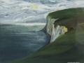 JH06- Julie Herring.  Dorset Coast. Acrylic on board. 49.5 x 56cm framed. Frame: Limed oak, glazed. £320
