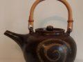 Lesley Collington Teapot with spiral decoration