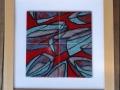 PP003JH Poole Pottery 4 tile design, 'Still Harbour', framed