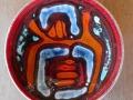 PP008D/CC Poole Pottery plate  Delphis range, designed by Carol Cutler